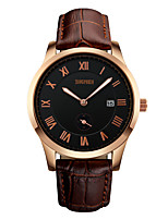 Women's Men's SKMEI  Popular Casual Watches Analog  Auto Date Genuine Leather Band relogio Masculino Quartz Wristwatches
