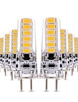 4W LED à Double Broches T 12 SMD 5730 300-400 lm Blanc Chaud Blanc Froid Intensité Réglable Décorative AC 12 V 10 pièces
