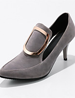 Women's Heels Novelty Formal Shoes Spring Fall Customized Materials Leatherette Dress Office & Career Ruched Stiletto Heel Black Gray