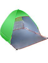3-4 personnes Bâtons Trekking Lit de Camp Unique Tente automatique Une pièce Tente de camping ToileVentilation Résistant à l'humidité
