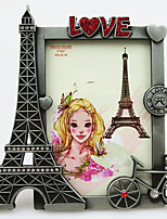 1PC Picture Frames Country Retro NoveltyMetal Gift Metal Eiffel Tower