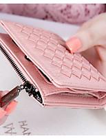 Women Coin Purse PU All Seasons Casual Outdoor Round Zipper Blushing Pink Silver Blue