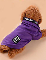 Dog Shirt / T-Shirt Dog Clothes Casual/Daily Letter & Number Blushing Pink Blue Purple Gray