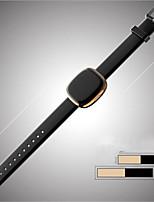 Hombre Reloj de Moda Digital Piel Banda Negro Plata Gris