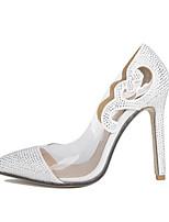Для женщин Обувь на каблуках Босоножки Полиуретан Весна Повседневные Босоножки Белый 7 - 9,5 см