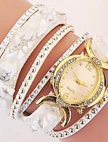 Жен. Часы-браслет Кварцевый PU Группа Черный Белый Синий Красный Зеленый Золотистый Фиолетовый Роуз