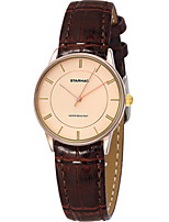 Women's Fashion Watch Quartz Water Resistant / Water Proof PU Band Brown