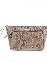 Women Cosmetic Bag PU All Seasons Casual Outdoor Round Zipper Fuchsia Yellow Black