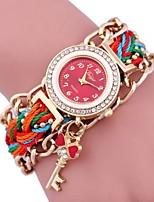 Жен. Часы-браслет Цифровой Металл Группа Черный Белый Синий Красный Зеленый Розовый