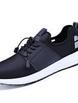 Da uomo Sneakers Suole leggere Maglia traspirante PU (Poliuretano) Primavera Autunno Sportivo Casual Lacci PiattoBlu scuro Grigio