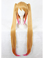 Kobayashi Maid Dragon Tohru Cosplay Wig 40inch Long Strsight Blonde Mixed Anime Cosplay Hair Wig Two Ponytails