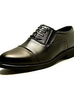 Для мужчин Туфли на шнуровке Удобная обувь Кожа Лето Осень Для вечеринки / ужина Для прогулок Удобная обувь На плоской подошве ЧерныйНа