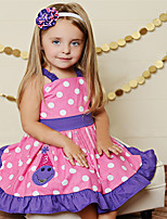 Girl's Polka Dot Dress,Cotton Polyester Summer Sleeveless
