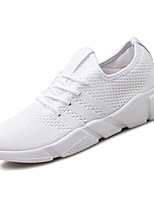 Men's Sneakers Comfort Spring Fall PU Outdoor White Black Gray Ruby Flat