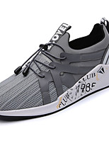 Men's Sneakers Comfort Spring Fall PU Outdoor Black Gray Blue Flat