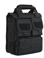 Men Shoulder Bag Nylon All Seasons Casual Outdoor Round Zipper Brown Black
