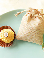 10pcs  Candy Favor Bag 9 x 7 cm Wedding Party Giveaways Beter Gifts® Nonwoven Burlap Favor Bag