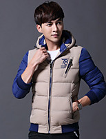 Men's Padded Coat,Chinoiserie Casual/Daily Solid-Cotton Polyester Long Sleeve