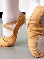 Mujer Ballet Tela Tejido Planos Entrenamiento Rojo Color Camello Nudo