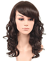 Fashion Body Wave Brown Natural Wigs Side Bang for Women Costume Wigs Cosplay Synthetic Wigs