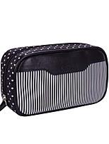 Women Cosmetic Bag PU All Seasons Casual Baguette Zipper Deep Blue Fuchsia Black