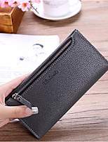 Women Checkbook Wallet PU All Seasons Casual Rectangle Zipper Ruby Deep Blue Black