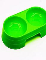Chien Bols & Bouteilles d'eau Animaux de Compagnie Bols & alimentation Portable Vert Bleu