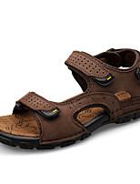 Men's Sandals Gunuine Leather Gladiator Comfort Light Soles Cowhide Spring Summer Casual Outdoor Office Career Gladiator Comfort Light Soles Flat Heel