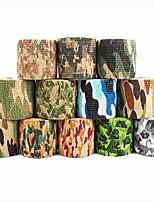 1Pcs 4500*50*0.21mm Stretched Jungle Camo Stealth Wrap Hunting Camouflage Tape Adhesive Duct Natural Latex Tape Random Color