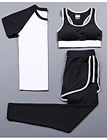 Women's Short Sleeve Running Compression Clothing Tracksuit Cycling Camping & Hiking Fitness, Running & Yoga Casual Sports All Seasons