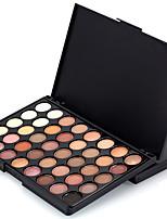 1PCS 40 Color Palette (2 Color Set to Choose) Paleta de Sombras Secos Mate Brilho Paleta da sombra PóMaquiagem para o Dia A Dia Maquiagem