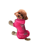 Dog Dress Dog Clothes Casual/Daily Letter & Number Gray Fuchsia