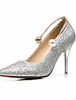 Women's Heels Formal Shoes Spring Fall Glitter Wedding Dress Party & Evening Pearl Stiletto Heel Gold Silver Ruby 3in-3 3/4in