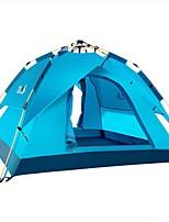3-4 personnes Tente Double Tente automatique Une pièce Tente de camping 1500-2000 mm Fibre de Verre TérylèneEtanche Résistant à la