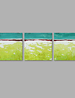 Hand-Painted Abstract Horizontal,Artistic Three Panels Canvas Oil Painting For Home Decoration
