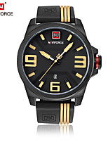 NAVIFORCE Men's Dress Watch Fashion Watch Japanese Quartz Calendar Water Resistant / Water Proof Silicone Band Cool Casual Black