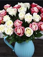 10 Peças 10 Ramo Seda Rosas Flor de Mesa Flores artificiais