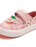 Mädchen Flache Schuhe Komfort Lauflern PU Frühling Normal Komfort Lauflern Rosa Weiß/Gelb Flach