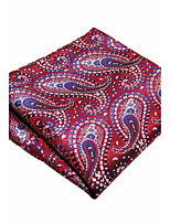 YH19 Unique Men's Pocket Square Handkerchiefs Pink Paisley 100% Silk Wedding Casual New Business