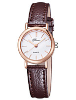 Women's Fashion Watch Quartz Leather Band Black Brown