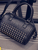 Women Bags All Seasons PU Tote with for Casual Outdoor Black
