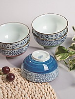 Japanese-style Creative Hand-painted Ceramic Bowl Gift Set Five Random Color