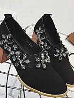 Damen High Heels Fersenriemen PU Frühling Normal Fersenriemen Schwarz Khaki 2,5 - 4,5 cm