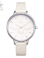 SK Women's Fashion Watch Wrist watch Chinese Quartz Shock Resistant PU Band Casual White K0055L01