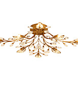 LightMyself 8 Lights Crystal Ceiling Lamp Indoors Lights for Living Room Bedroom Dining Room
