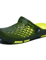 Men's Sandals Light Soles PU Summer Casual Light Soles Flat Heel Blue Green Brown Gray Flat