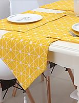 Yellow Linen Garden Simple Table Flag