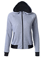 Women's Sports Casual/Daily Hoodie Solid Hooded Inelastic Cotton Long Sleeve Fall Winter