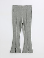 Girls' Solid Pants-Cotton Spring Fall