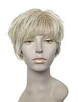 Capless Bleach Blonde Wig Short Curly Synthetic Wig For Women